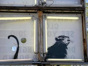 Banksy, Topone alla finestra