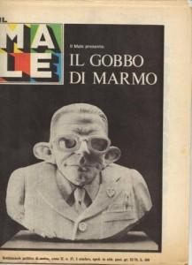 Il celebre busto di Andreotti realizzato in marmo di Carrara, 1978