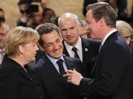 Merkel, Sarkozy e Cameron