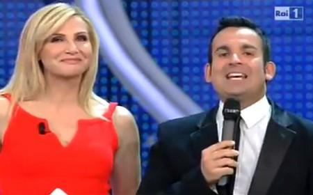 Marco Simeon con Lorella Cuccarini