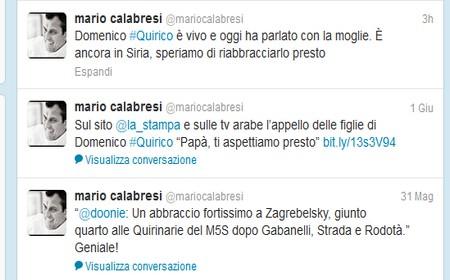 Il tweet di Mario Calabresi annuncia che un grande giornalista è vivo