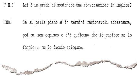 L'estratto dell'interrogatorio di Mussari