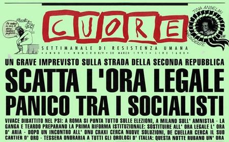 """Il settimanale satirico """"Cuore"""", 31 marzo 1991"""