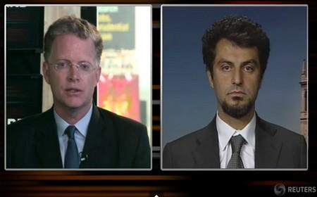 Moretti (a destra) parla a Reuters Tv. Obama lo ha invitato alla Casa Bianca