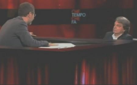 Fabio Fazio e Renato Brunetta in trasmissione