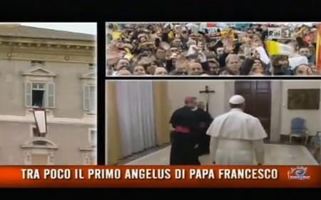 L'esordio del Papa: primo Angelus sulla Rai