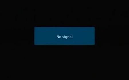 Lo schermo annerito, senza più segnale