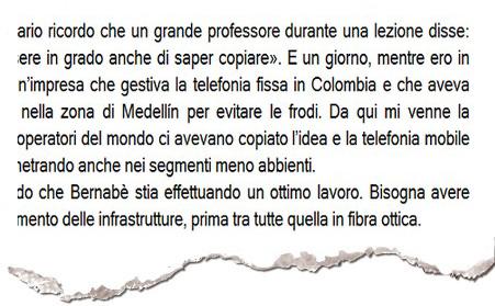"""L'ammissione di Gamberale nel libro """"Goodbye Telecom"""""""