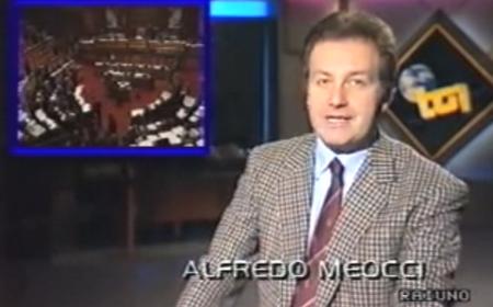 Meocci conduce il Tg1 nel 1989