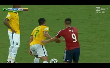 Un momento di Brasile-Colombia