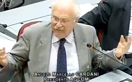 Cardani (AgCom) si sfoga durante l'audizione