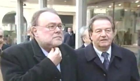 Alfredo Meocci (a destra) con l'ex presidente Claudio Petruccioli a Verona