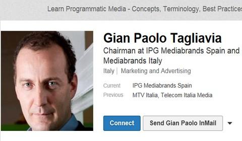 Il profilo Linkedin di Gian Paolo Tagliavia