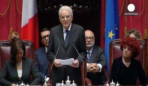 Euronews trasmette il primo discorso del presidente Mattarella
