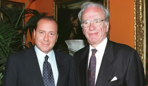 Silvio Berlusconi con Rupert Murdoch