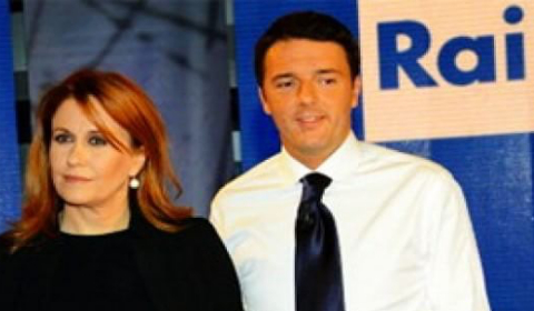 Monica Maggioni e Matteo Renzi (2012)