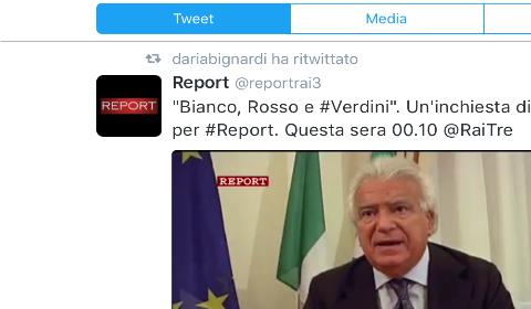 Daria Bignardi segnala il programma su Verdini attraverso Twitter