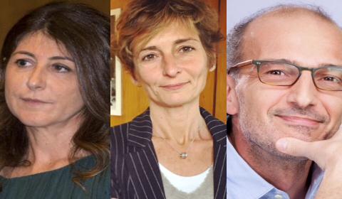 Dirigenti esterni: da sinistra, Ilaria Dallatana e Francesca Canetta (Rai2), Alessandro Lostia (Rai3)