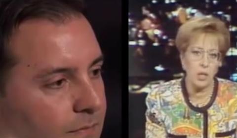 Salvo Riina rivede i Tg sulla morte di Falcone durante Porta a Porta