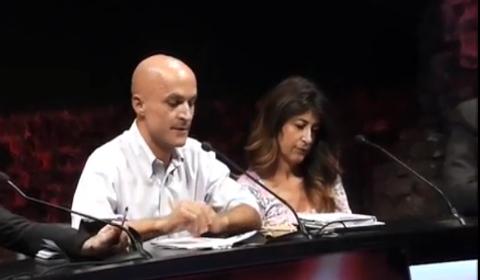 Lorenzo Mieli con Ilaria Dallatana, direttore di RaiDue
