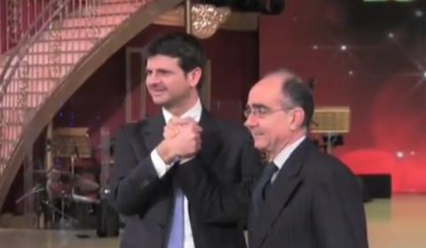 Andrea Fabiano (a sinistra) con Giancarlo Leone