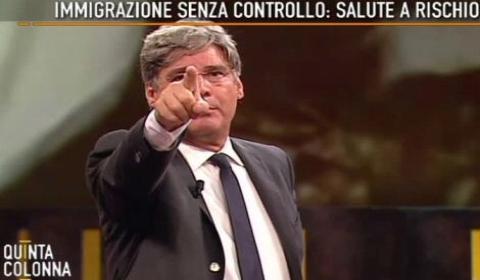 """Paolo Del Debbio conduce """"Quinta Colonna"""""""