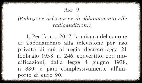 La Legge di Bilancio si limita ad abbassare il canone a 90 euro