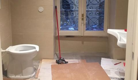 Lavori in corso nel bagno