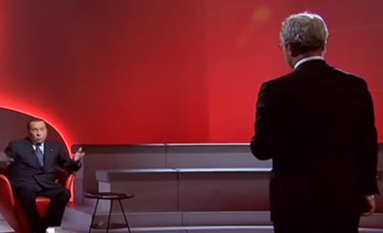 Mentana intervista Berlusconi