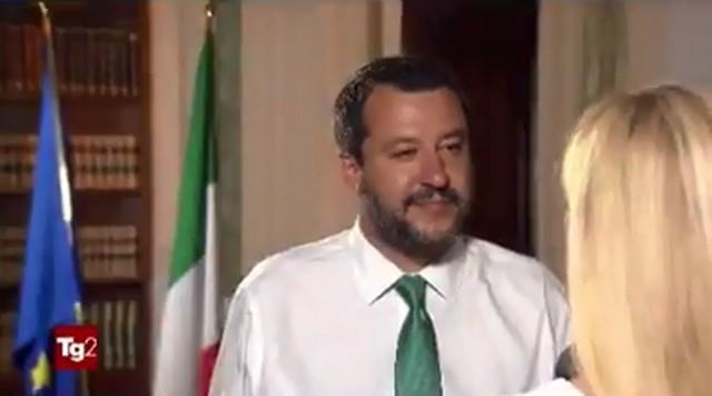 L'intervista del Tg2 a Salvini