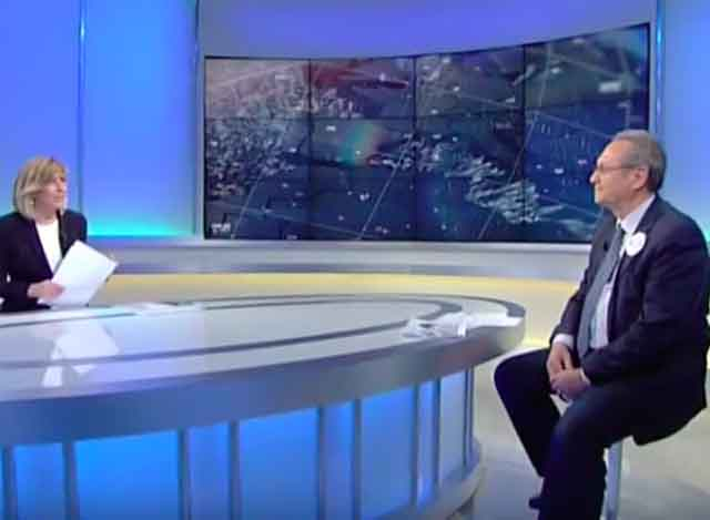 Roberto Zaccaria, presidente del Cir dal 2014, ospite di Tv2000