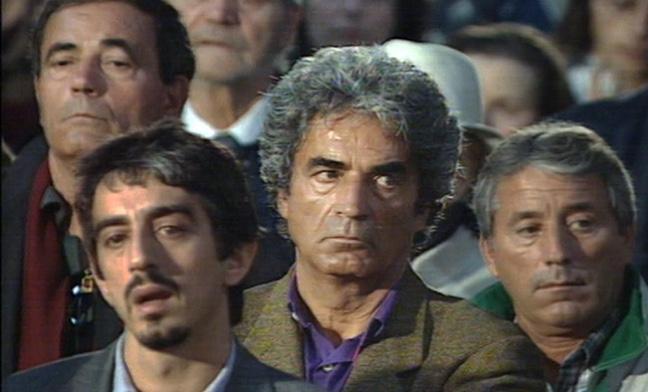 Antonio Spoletini al funerale di Fellini