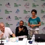In piedi, la nuotatrice Monica Priore al convegno su sport e salute