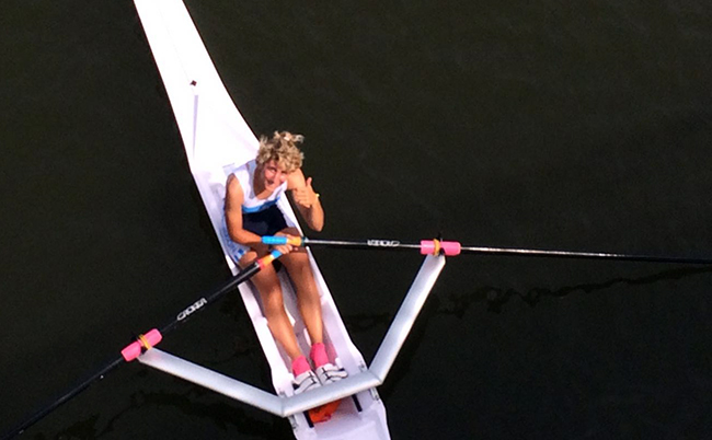 Cristina Fiore in acqua