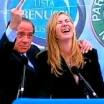 Micaela Biancofiore con Berlusconi