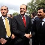 Il ministro Alfano con i vertici dell'Anm Palamara e Cascini