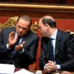 Alfano con Berlusconi