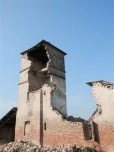 Torre Castellina del 1567 a san Felice dopo il 20 maggio poi definitivo crollo