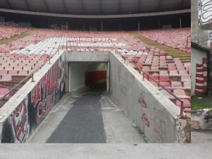 """Ripresa dal basso della """"casa"""" degli ultras serbi"""