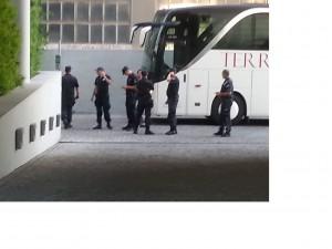 La polizia che ci ha scortato per tutta la nostra permanenza a Belgrado