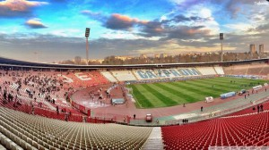 Una panoramica del Marakana di Belgrado