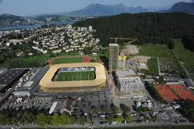Visione dall'alto dello stadio di Lucerna