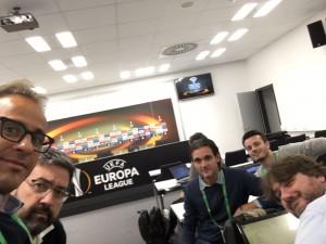 Giornalisti modenesi in sala stampa