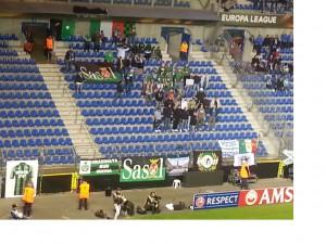 Il settore riservato ai tifosi del Sassuolo
