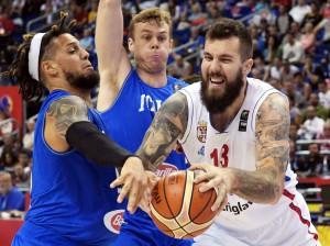 Basket: Europei; Italia-Serbia 82-101
