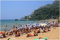 Glyfada beach in agosto