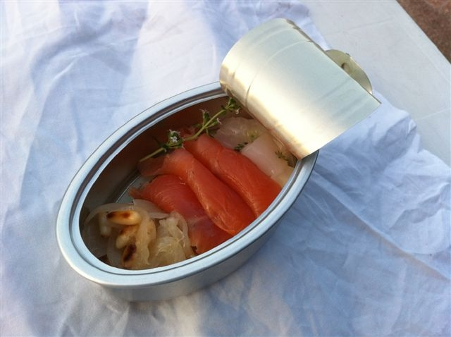 """Il """"piatto"""" preparato da Filippo Bondi della """"Tavolozza"""""""