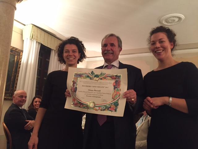 Accademia italiana della cucina assegnato il premio dino villani