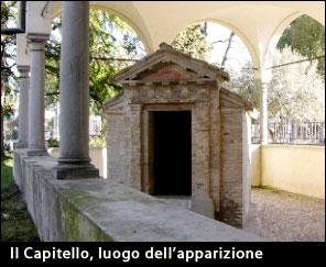 Il capitello della Madonna, luogo dell'apparizione