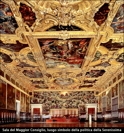 Sala del Maggior Consiglio - Palazzo Ducale - Venezia / Veneto